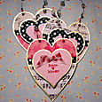 Valentine Paper Art Hearts