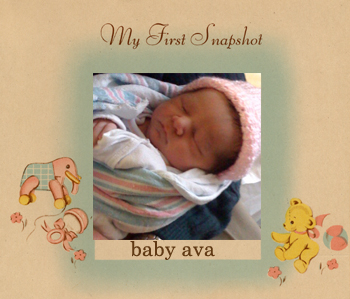 Baby-ava-first-photo!
