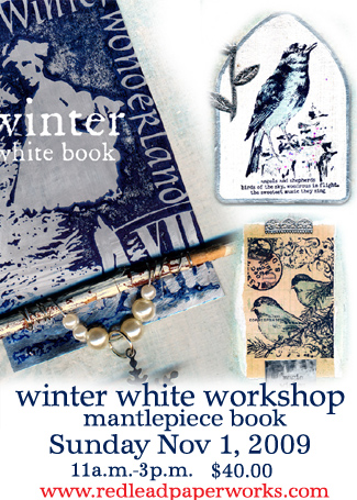 Winter white altered art!