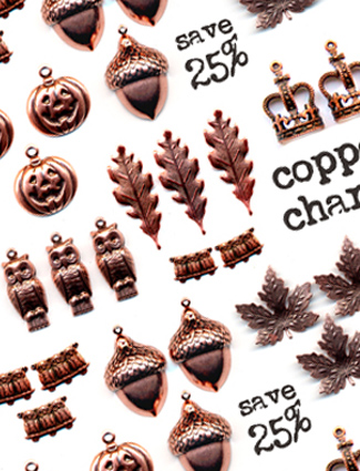 Copper-charm-sale!!