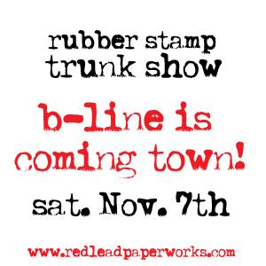 Rubber stamp trunk show!