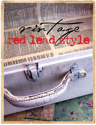 Vintage-red-lead-style!