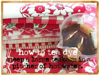 Tea-dye-step-one!