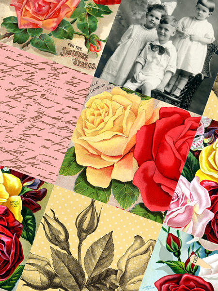 New-Rose-Collage-Sheets!