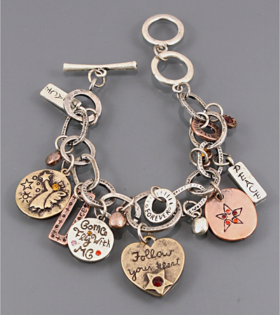 Follow Your Heart Charming Bracelet