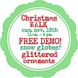 Christmas Walk Free Demo Glittered Snow Globe Ornaments