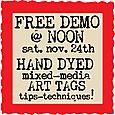 Free Demo Hand Dyed Mixed Media Art Tags