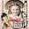 Sewing Girl Artist Trading Card