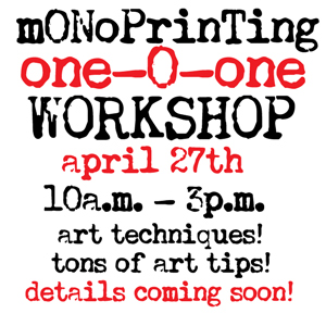 Workshop-monoprinting