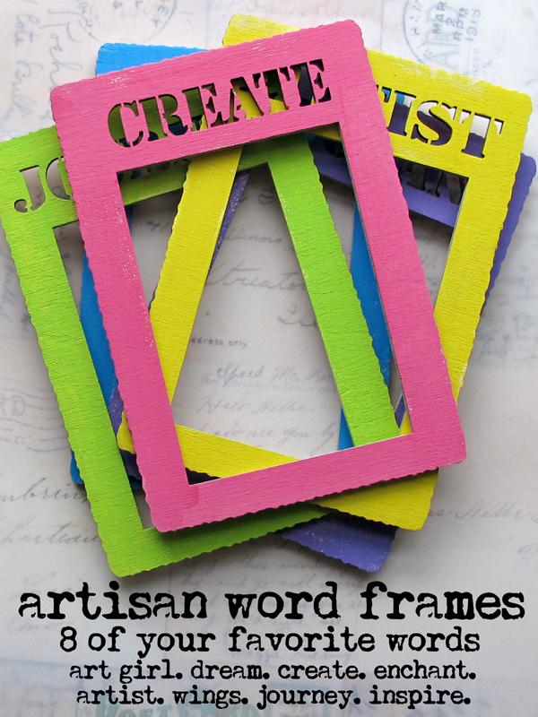 Artisan-word-frames!