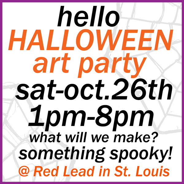 Hello-Halloween-Art-Party!