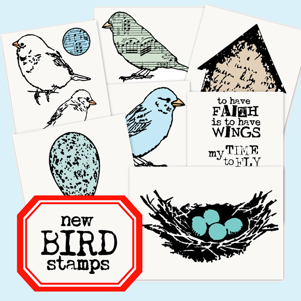 New-Bird-Rubber-Stamps!