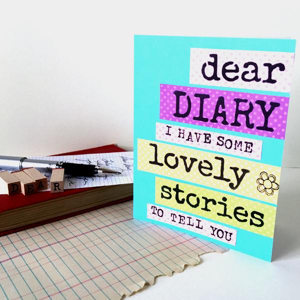 CardDearDiaryLovelyStories