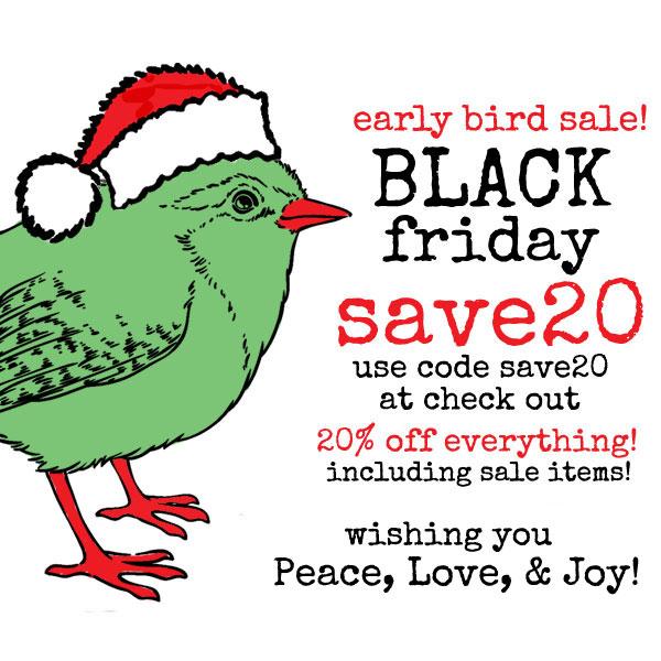 Early-bird-sale!