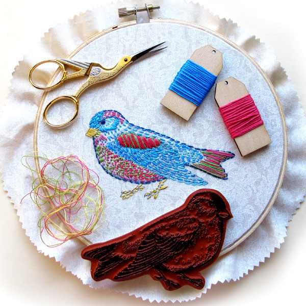 Bird-embroidery