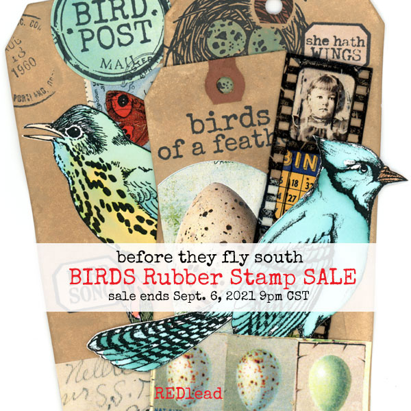 Birds-Rubber-Stamps-Sale